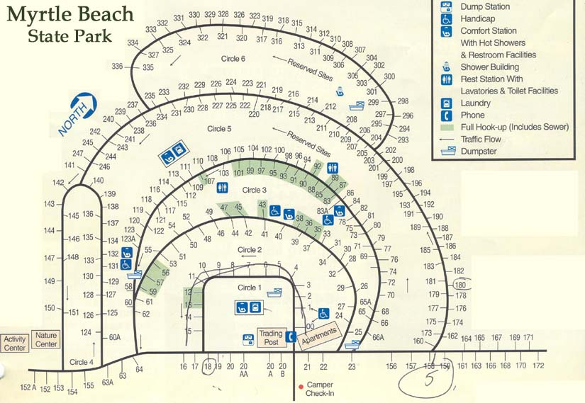 Myrtle Beach State Park Campground Map | The best beaches ...
