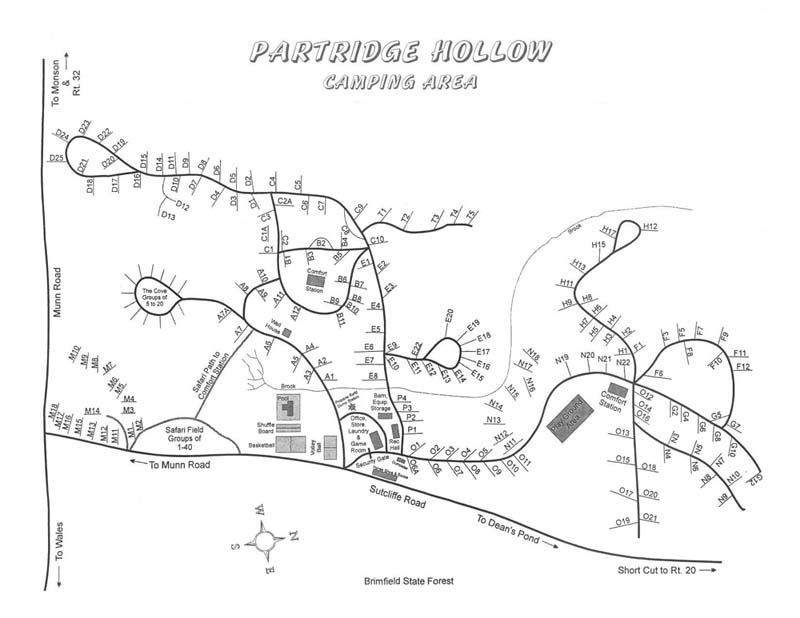 partridge hollow map